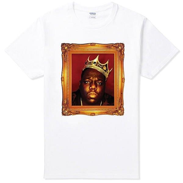 Notorious BIG Crown短袖T恤-白色 B.I.G. Biggie 樂團 嘻哈 rap hip