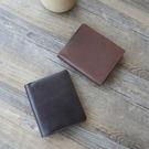 【Solomon 原創設計皮件】簡約真皮薄型短夾 霧面皮革直式中夾 多相片多卡層  輕薄方便攜帶男錢包