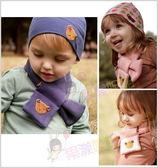 果漾妮妮 雙層毛絨鈕扣小熊款圍巾/兒童圍巾/保暖聖品/圍脖-4色現貨
