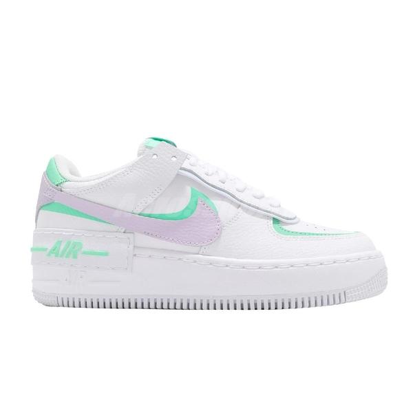Nike 休閒鞋 Wmns AF1 Shadow 白 紫綠 小白鞋 Air Force 1 女鞋 【ACS】 CU8591-103