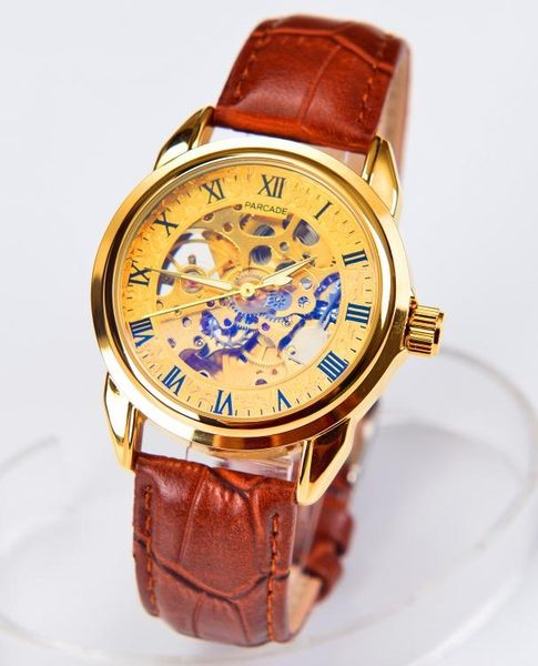 萬聖節優惠-手錶男機械錶男錶皮帶夜光防水機械手錶