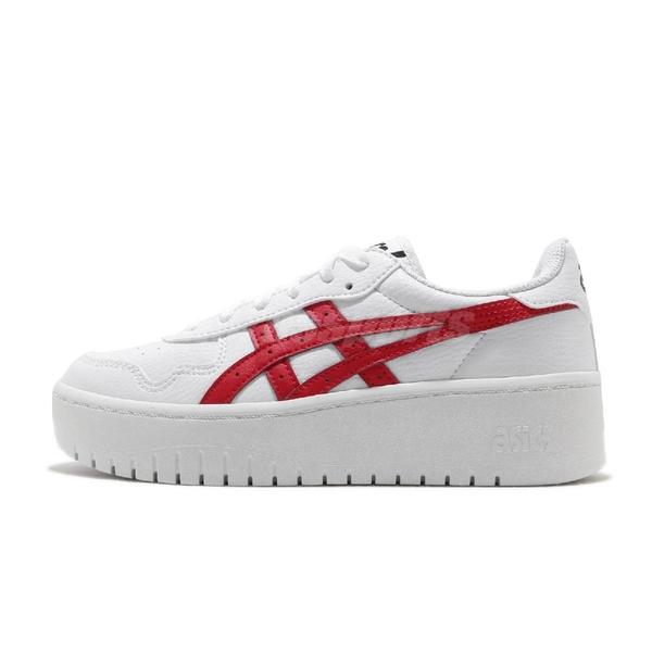 Asics 休閒鞋 Japan S PF 白 紅 女鞋 厚底 微增高 運動鞋 【ACS】 1202A024101