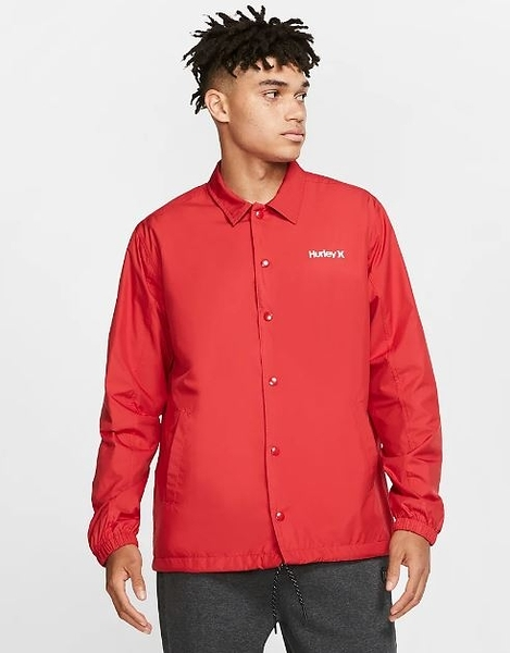 Hurley  M SIEGE COACHES JACKET BLACK  夾克-紅(男)