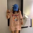 2020夏韓版大碼短袖t恤女寬鬆蹦迪嘻哈超火cec中長款上衣裝 潮流衣舍
