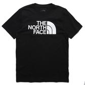 THE NORTH FACE 短T 短袖 黑 基本款 大LOGO 版型偏大 男 (布魯克林) NF0A4QQ7JK3
