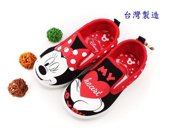 EMMA商城~兒童正版Disney迪士尼米妮紅色俏皮輕便休閒鞋室內鞋童鞋.紅18號