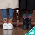 短襪 加厚保暖款!幾何撞色圖騰毛線織彈性中筒襪-BAi白媽媽【196410】