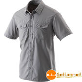 Wildland荒野 W1206-92中灰 男排汗抗UV短袖襯衫