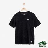 男裝ROOTS 結粒紗短袖T恤-黑色