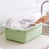 碗架 廚房瀝水碗架帶蓋塑膠碗櫃碗筷餐具收納盒放碗碟架滴水碗盤置物架jy【全館免運】