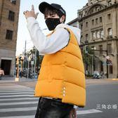 夏季裝季羽絨棉馬甲男士韓版潮流外套馬夾情侶運動加厚保暖背心坎肩