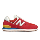 New Balance 574 男女款紅X黃X藍D楦麂皮復古休閒鞋-NO.ML574HA2