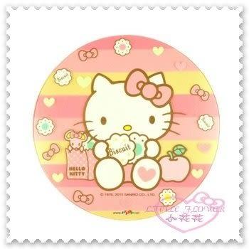 ♥小花花日本精品♥ Hello Kitty 晶彩 透明 滑鼠墊 桌墊 特殊壓紋 坐姿 蘋果 愛心1096006