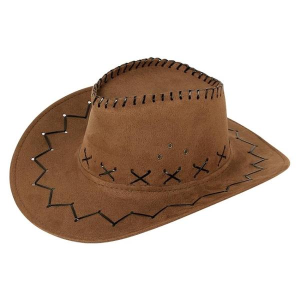 牛仔帽西部牛仔帽戶外旅游休閑男士遮陽帽仿麂皮絨夏季防曬清涼騎士帽子 嬡孕哺