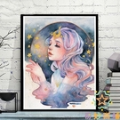 diy數字油畫臥室大幅填色手繪裝飾畫定制...