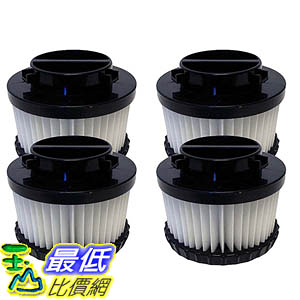 [106美國直購] 4 Highly Durable Washable & Reusable Dirt Devil Style F9 HEPA Filters 3DJ0360000, 2DJ0360000