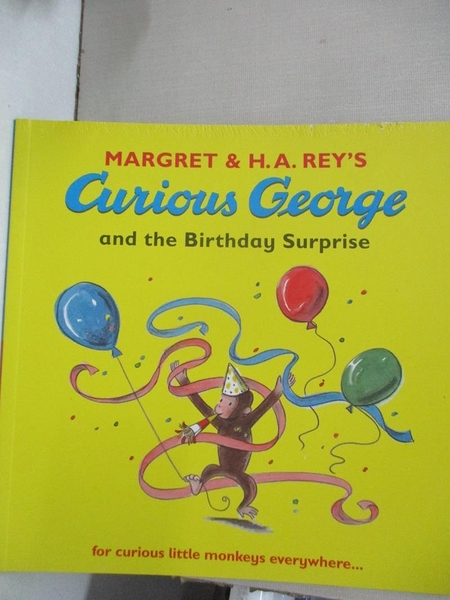 【書寶二手書T1/少年童書_JDM】Curious George and the Birthday Surprise_Margret,H. A. Rey