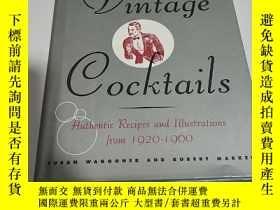二手書博民逛書店Vintage罕見Cocktails - Authentic R