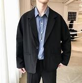 ins外套男春季港風潮流韓版小西裝2021新款男士學生上衣寬鬆西服