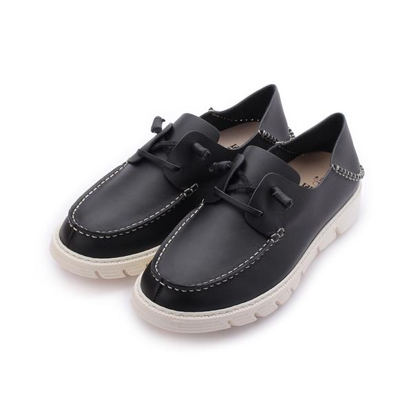 TANGO 真皮縫線後踩休閒鞋 黑 6061 男鞋 鞋全家福