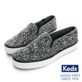 KEDS DOUBLE DECKER 套入式毛呢休閒鞋 貴氣黑 174W132278 女鞋