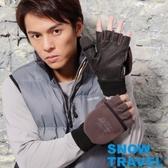 [SNOW TRAVEL] AR-47 / WINDBLOC防風保暖半指兩用手套/灰/L號