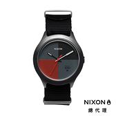 【官方旗艦店】NIXON QUAD 帆布錶帶 黑X深紅 潮人裝備 潮人態度 禮物首選