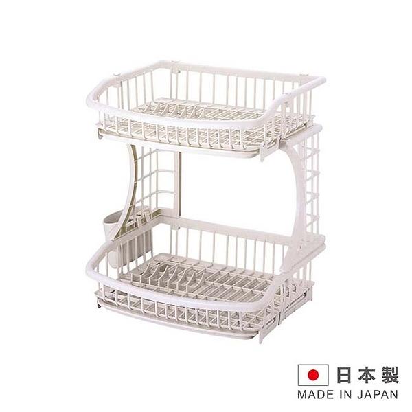 PEARL METAL 日本製造 雙層碗盤瀝水架 1176g IN-H6615