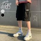 工作短褲 工裝美式寬鬆運動棉褲七分褲【NLHYXS-D07】