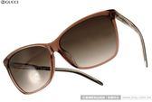 GUCCI 太陽眼鏡 GG3663FS 0WOHA (透棕) 簡約時尚立體轉節鏡腳系列貓眼款 # 金橘眼鏡