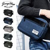 側背包 JerryShop 麻花色經典日系側背包(5色) 斜背包 單車包 基本款【XB03018】
