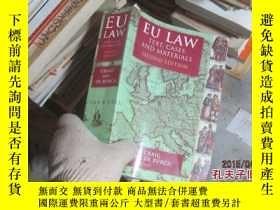 二手書博民逛書店eu罕見law text cases and materials