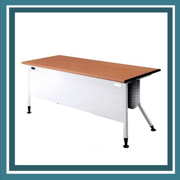 【必購網OA辦公傢俱】KRW-127H 白桌腳+紅櫸木桌板 辦公桌 會議桌