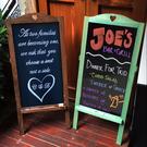 實木立式小黑板 咖啡館餐廳商店員工招聘新品促銷廣告板 快速出貨