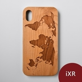 Woodu 木製手機殼 在世界旅行 iPhone XR適用