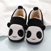冬季女童棉拖鞋包跟兒童拖鞋男童寶寶1-3歲可愛小孩毛毛家居棉鞋