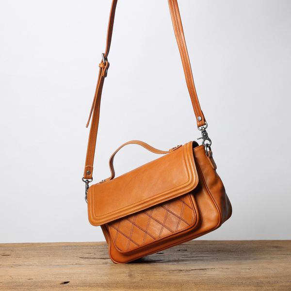 【Solomon 原創設計皮件】玉茗花系列 側背包