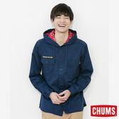 CHUMS 日本 男 連帽童子軍長袖襯衫 深藍 CH021049N001
