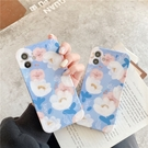 藍色花朵 適用 iPhone12Pro 11 Max Mini Xr X Xs 7 8 plus 蘋果手機殼