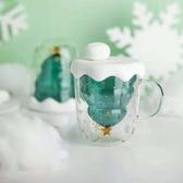 現貨 貓爪玻璃杯 聖誕樹水杯 星願杯 耐高溫馬克杯 雙層水杯禮品 派對用品 折扣好價