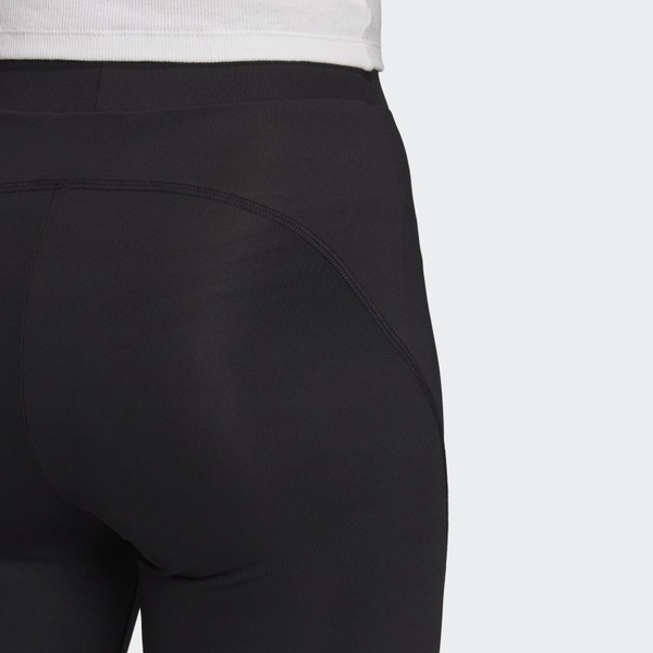 J-adidas RYV 緊身褲 黑白 小標誌 休閒 透氣 舒適 五分褲 膝上褲 女款 GD3882