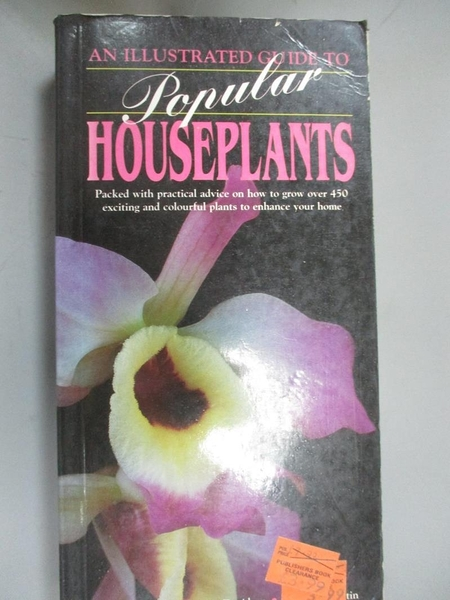 【書寶二手書T7/動植物_OMV】An ILL. GDE TO POPULAR HOUSEPLANTS