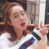 雙十二狂歡韓國原宿圓形復古經典平光眼鏡【洛麗的雜貨鋪】