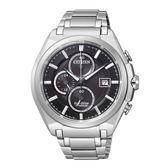 CITIZEN 星辰 尊榮時刻 鈦金屬光動能腕錶-黑/43mCA0351-59E