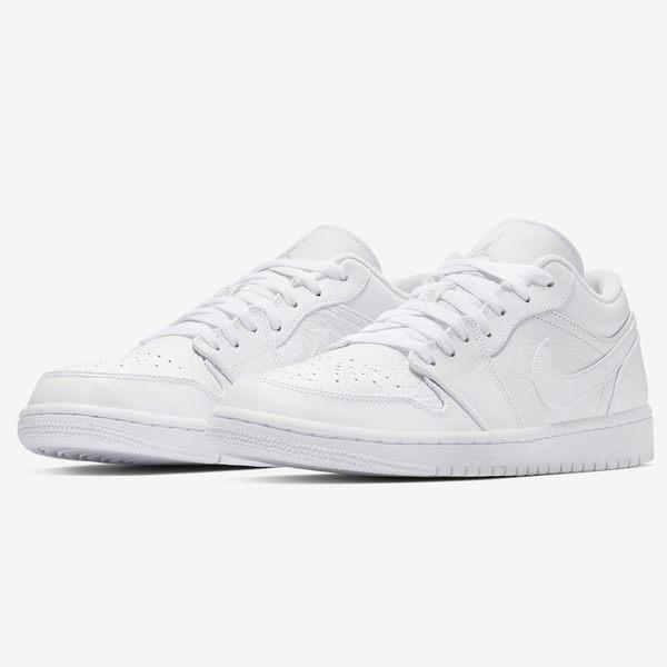 ★現貨在庫★ NIKE Air Jordan 1 Low 男鞋 休閒 AJ1 喬丹 皮革 白 【運動世界】553558-111