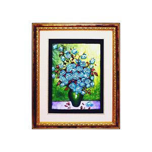 HONEY COMB 立體浮雕壁掛畫-藍玫瑰 AB11