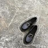 娃娃鞋春秋日系原宿軟妹少女愛心搭扣低跟學生圓頭小皮鞋娃娃鞋 交換禮物