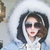 珍珠個性金屬大框墨鏡女款圓臉顯臉小太陽鏡街拍潮流 樂芙美鞋