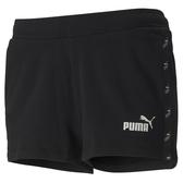 PUMA Amplified 女裝 短褲 2吋 針織 真理褲 慢跑 休閒 串標 黑 亞規【運動世界】58530301