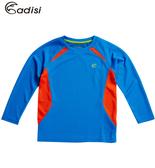 ADISI 童抗靜電圓領長袖上衣AL1521042(110~150) / 城市綠洲專賣(抗靜電、伸縮彈性、機能性布料)